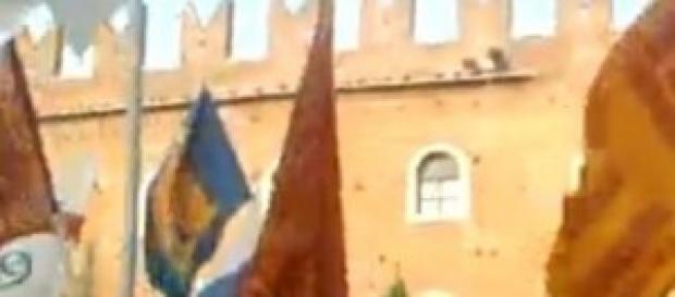 Matteo Salvini a Verona con gli indipendentsti