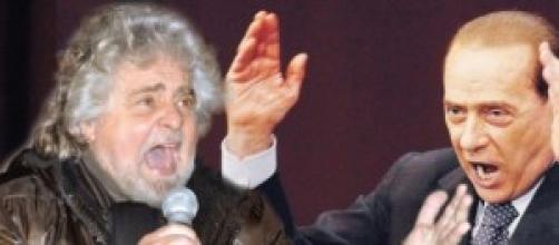 Beppe Grillo e Silvio Berlusconi