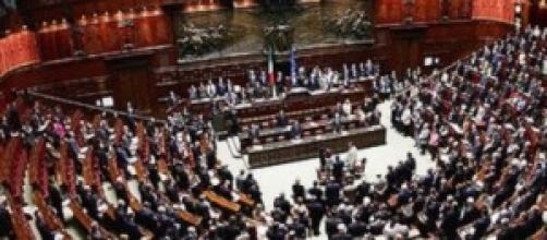 Nella foto, il parlamento italiano