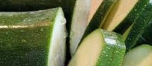 Particolare delle zucchine verdi