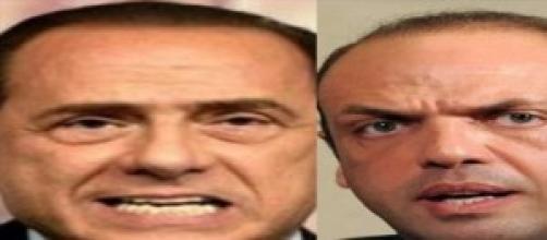 Berlusconi porge la guancia ad Alfano.