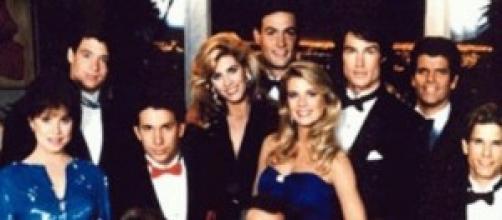 Il cast di ''Beatiful'' del 1987