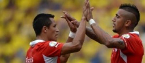 Alexis Sanchez e Arturo Vidal