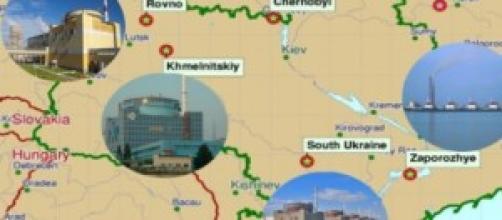 Le quattro centrali nucleari operative in Ucraina
