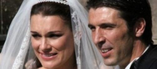 Buffon e Seredova il giorno delle nozze