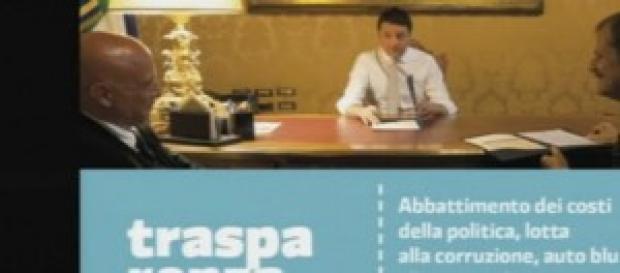 Conferenza stampa a Palazzo Chigi di Matteo Renzi