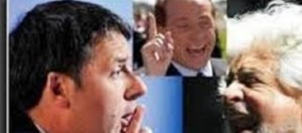 Grillo, Renzi e Berlusconi: ultime ore di comizi