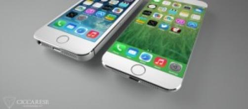 iPhone 5S e concept di iPhone 6