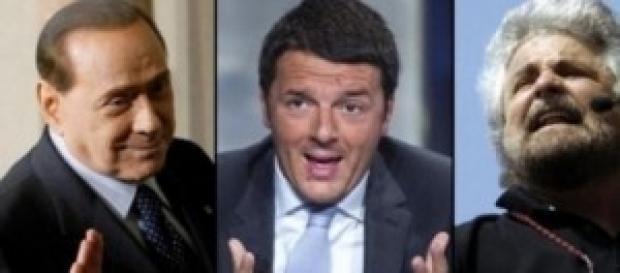Renzi batte Grillo e Berlusconi