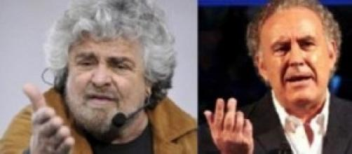 Grillo e Santoro ai ferri corti