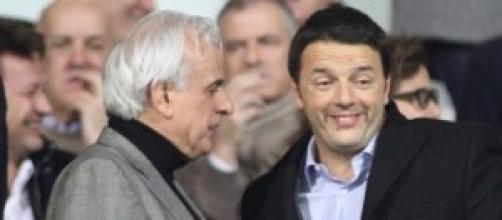 Matteo Renzi allo stadio Franchi di Firenze