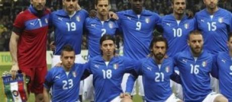 Foto di rito della nazionale italiana.