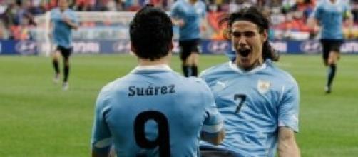 La coppia goal Cavani-Suarez