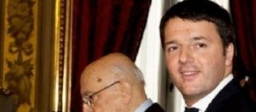 Matteo Renzi e Giorgio Napolitano