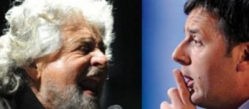 Beppe Grillo contro Matteo Renzi per caso Mineo
