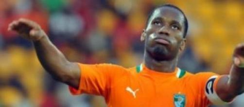 Didier Drogba attaccante della Costa d'Avorio