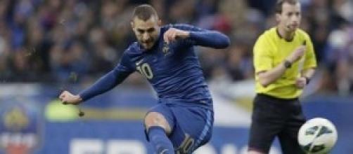 Karim Benzema attaccante della Francia