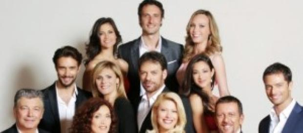 Il cast della soap Centovetrine