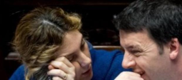 Il ministro Madia e il premier Renzi