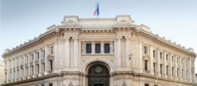Il palazzo della Banca d'Italia di Milano