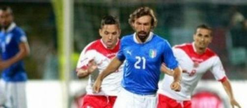 Andrea Pirlo, ieri capitano della Nazionale