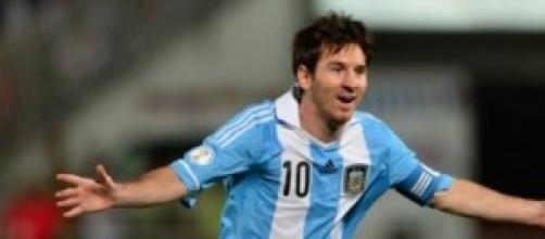 Leo Messi attaccante Argentina