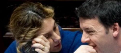 Il premier Renzi e il ministro Madia