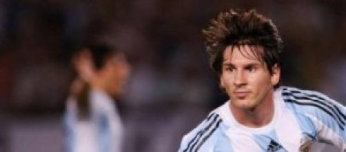 Messi, autore di una rete contro la Bosnia
