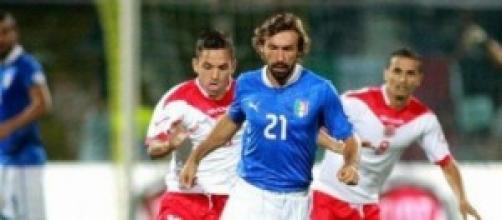 Andrea Pirlo, leader della Nazionale di Calcio