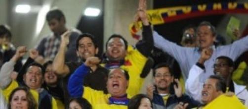 Tifosi dell'Ecuador in festa
