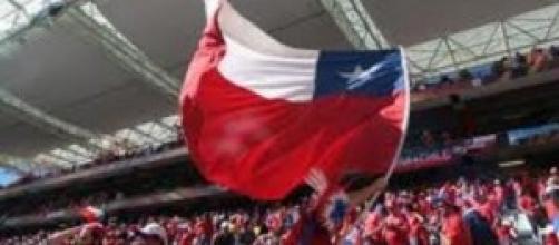tifosi cileni al Maracanà