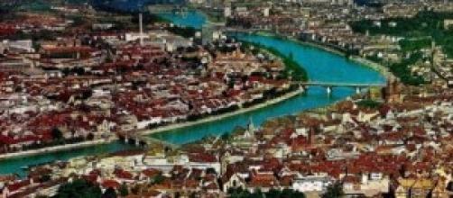 Uno scorcio del centro urbano di Basilea