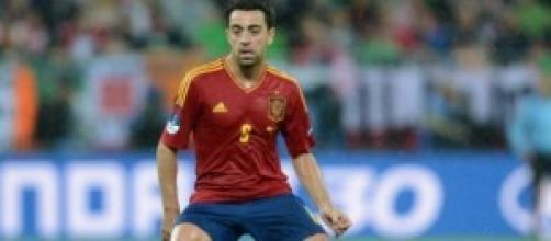 Xavi centrocampista della Spagna e del Barcellona