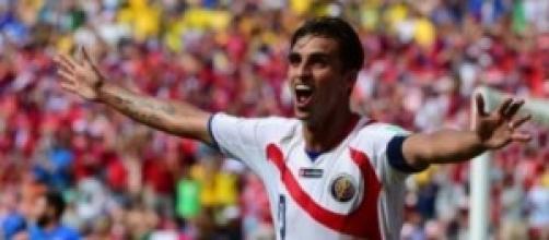Bryan Ruiz, gol del Costa Rica contro l'Italia