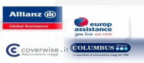 I loghi di alcune compagnie assicurative