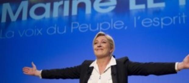 Il leader del FN, Marine Le Pen