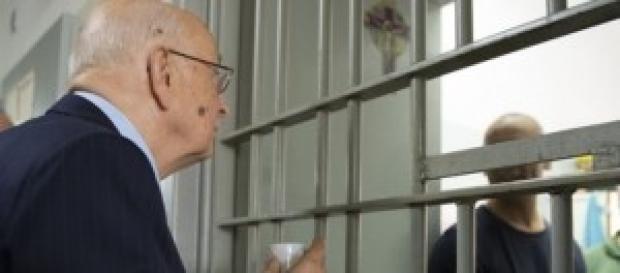 Indulto e amnistia, Napolitano a Poggioreale