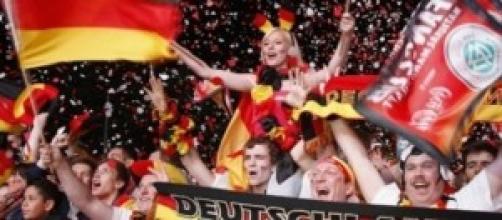 Tifosi della Germania festanti