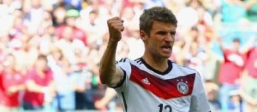 Il tedesco Thomas Muller, 4 gol nella prima fase