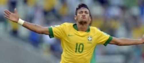 Neymar che esulta dopo un goal