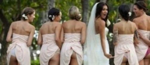 Una delle tante foto del Bridesmaids Mooning