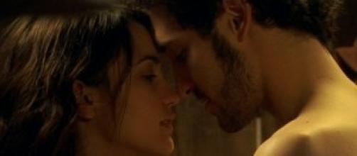 Una scena della telenovela Il Segreto.