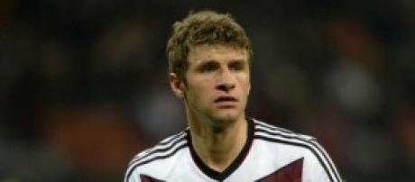 Thomas Muller attaccante della Germania