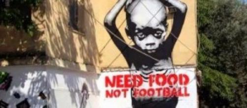 Murales di protesta contro il Mondiale di calcio