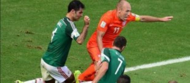 Penalti de Márquez sobre Robben
