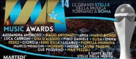 Music Awards 2014, stasera in Tv