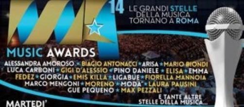 Music Awards 2014, stasera in Tv