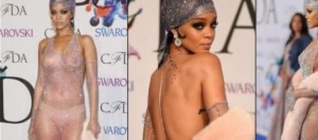 El vestido de Rihanna en la gala CFDA
