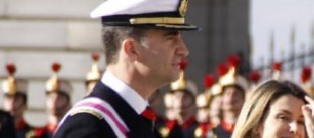 El principe Felipe y la princesa Letizia de acto