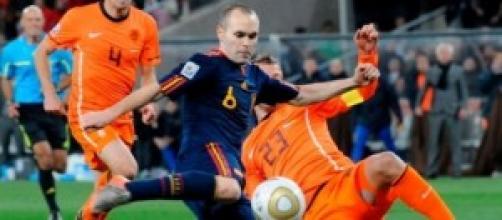 Iniesta in Spagna-Olanda, finale del mondiale 2010